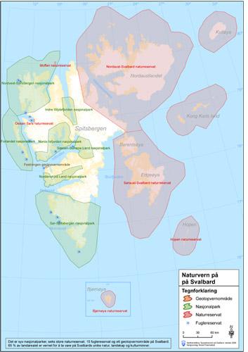 Svalbard Schutzgebiete