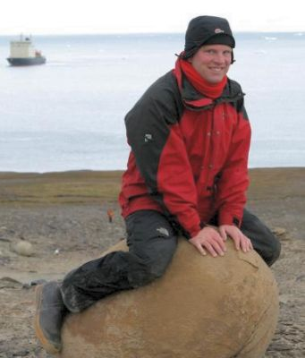 Rolf Stange on Champ Island, Franz Josef Land