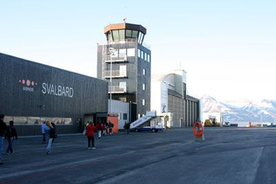Passport control in Longyearbyen