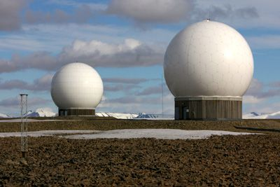 SvalSat-satellite station near Longyearbyen