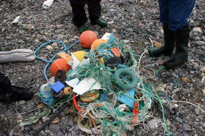 Plastic waste on Spitsbergen