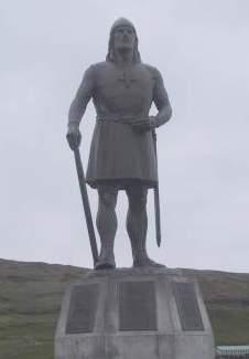Leif Eriksson i Brattalihd, sørvest-Grønland