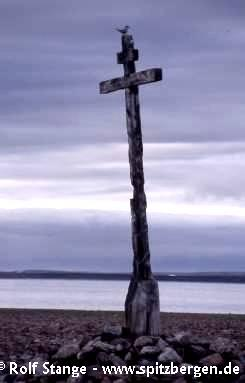 Orthodox cross from the Pomors' days. Murchisonfjord, Nordaustland