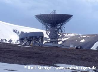 Because of its position near the pole, Spitsbergen is a good place for antennas to pick up data from certain satellites