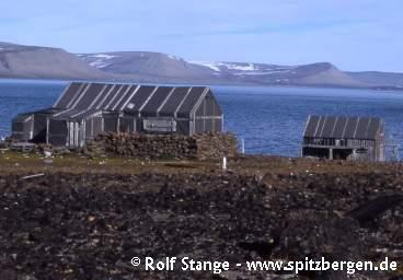 Trapper hut Bjørneborg in southeastern Svalbard