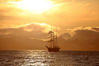 The three-masted sailing ship Antigua