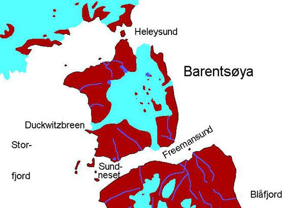 Barentsøya map