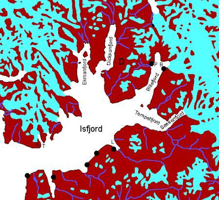 Map Dicksonland-Billefjord