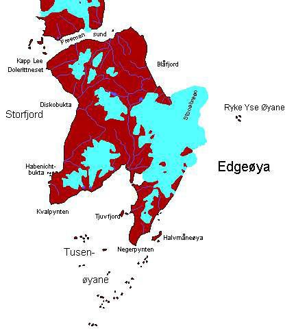 Edgeøya map