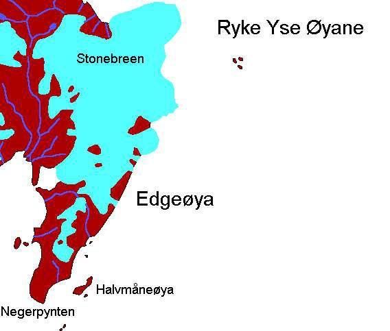 Karte Ryke Yseøyane