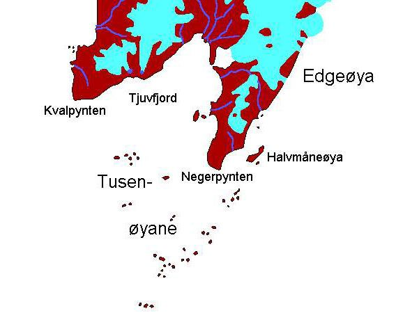 Tusenøyane map