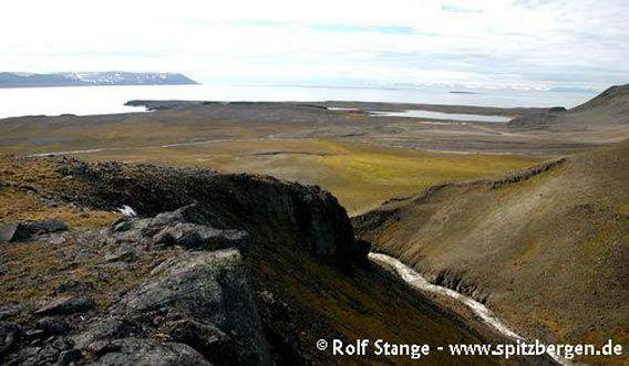 Barentsøya: Steilstufe aus Doleritt