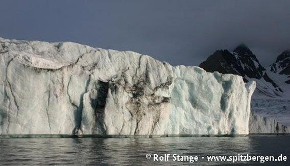 One of many calving glacier fronts in the Hornsund