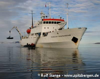 Expedition ship M/V Professor Multanovskiy in Hinlopen Strait