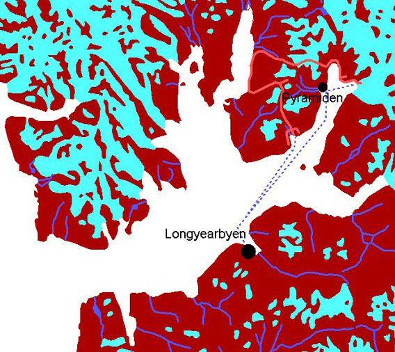 Karte Dickson Land