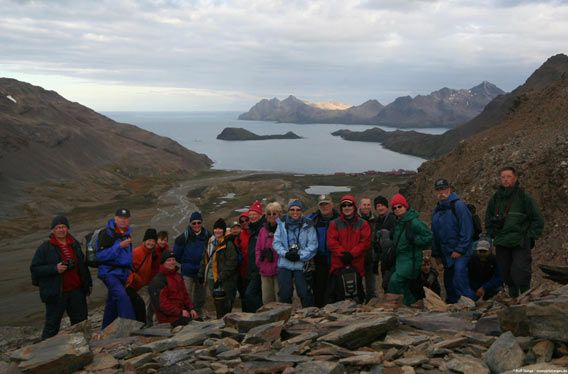 Group photo (»Shackleton hike«, Stromness Valley)