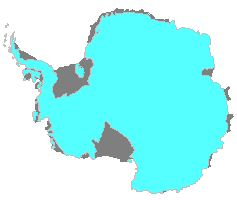 Map Antarctic