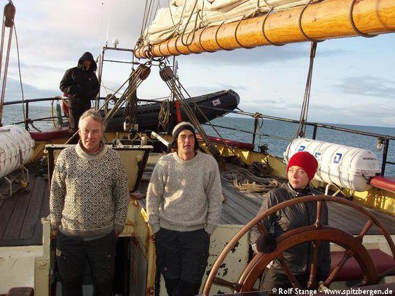 Gert Ritzema, Dickie Koolwijk and Cecilia Sandström navigate the Noorderlicht ...