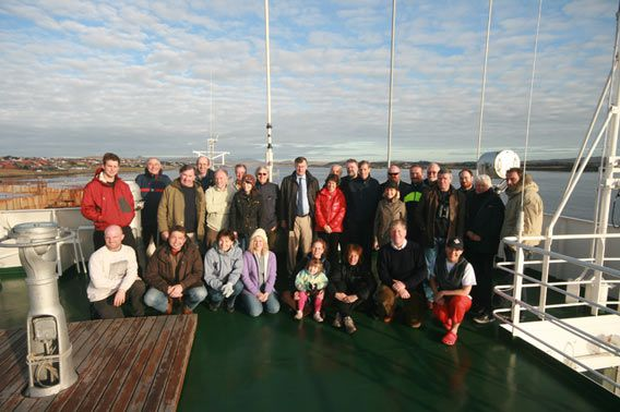 HRH and TL with crew and staff of MV Grigoriy Mikheev (2)