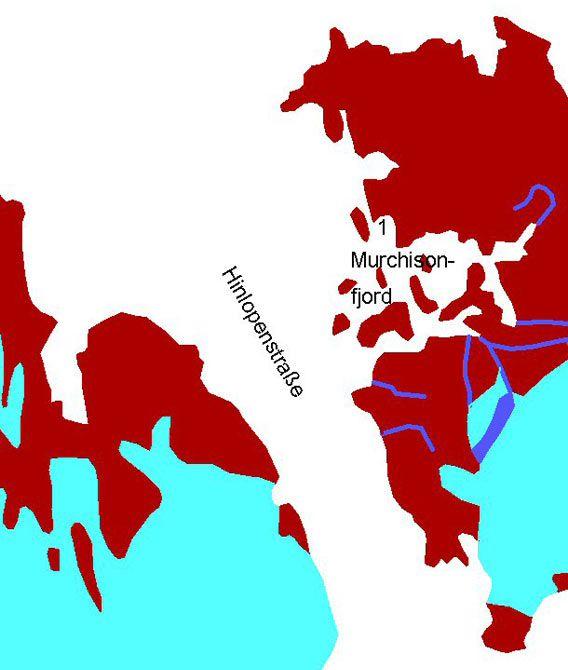 Karte Murchisonfjord