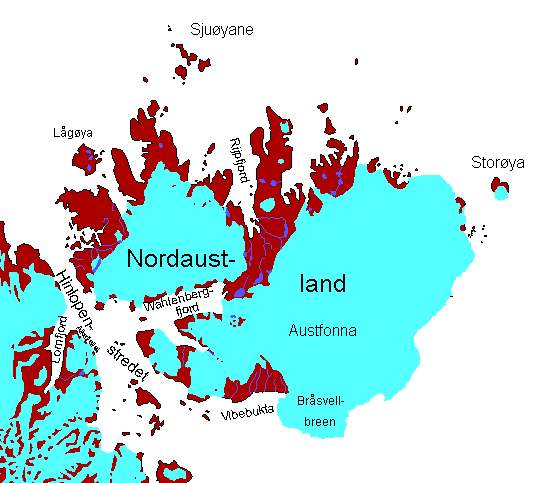 Karte Nordaustland