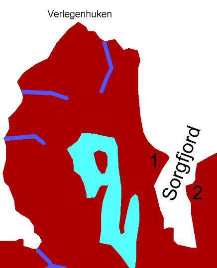 Karte Sorgfjord