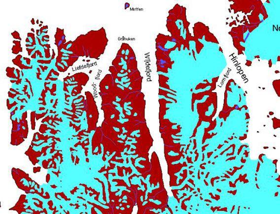 Karte Wijdefjord