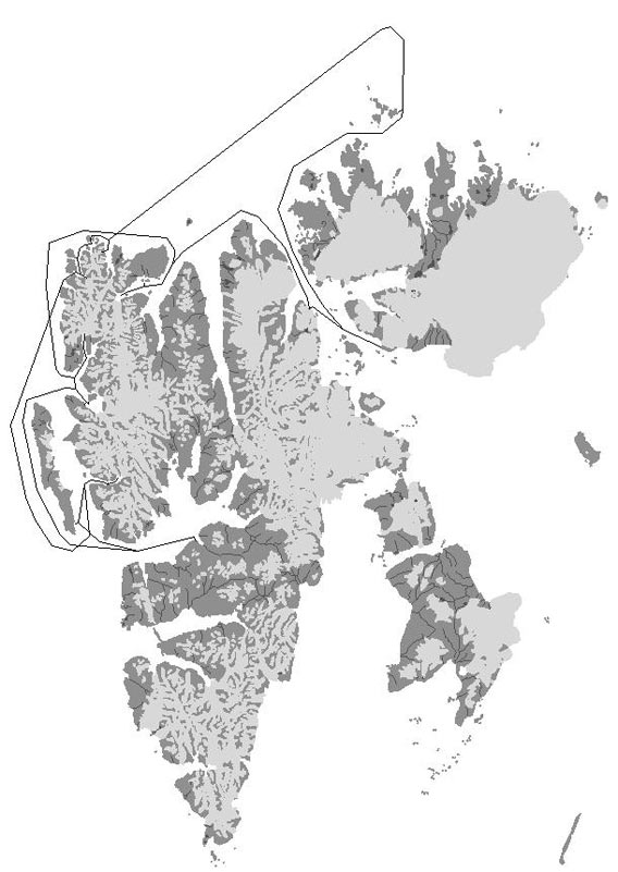 Map - North Spitsbergen 2006/06/14-21
