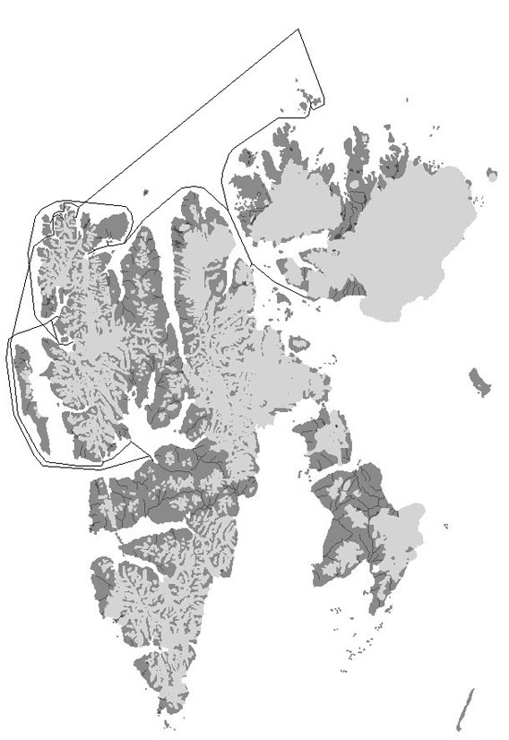 Map - North Spitsbergen 2006/06/21-28