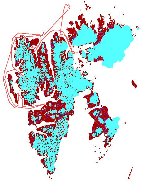 Map - North-Spitsbergen 2007/06/22-29