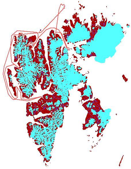Map - North-Spitsbergen 2007/06/22-29