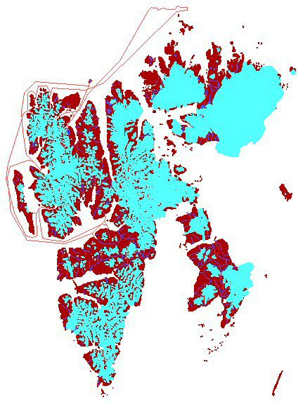 Map - North-Spitsbergen 2007/06/29-07/06