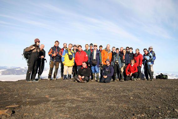 On top of Ostrogradskifjellet (Hornsund) ...