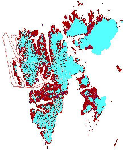 Map Spitsbergen