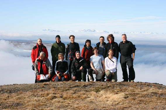 Group photo Observatoriefjellet (Recherchefjord)