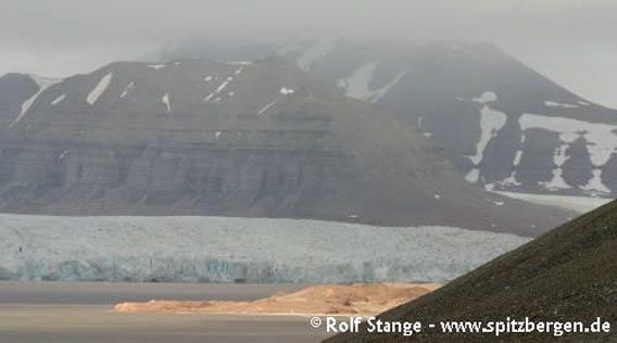 Glacier front in the inner Tempelfjord