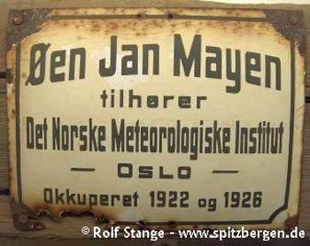 Jan Mayen: Annexionsschild