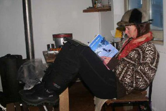 Enjoying polar books in Greenland