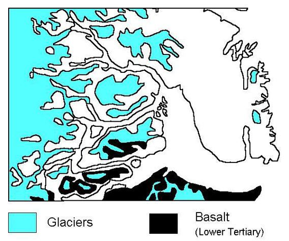 The basalts of the Blosseville Coast