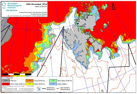 Ice chart, Spitsbergen