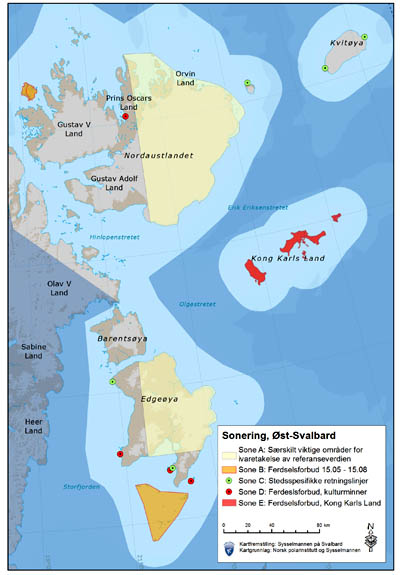 East Svalbard management proposal by Sysselmannen, January 09, 2013