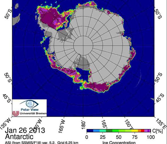 Antarctic SSMIS 2013/01/27