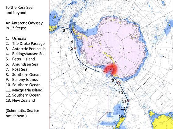 Rossmeer 2013: Karte zum Reisebericht