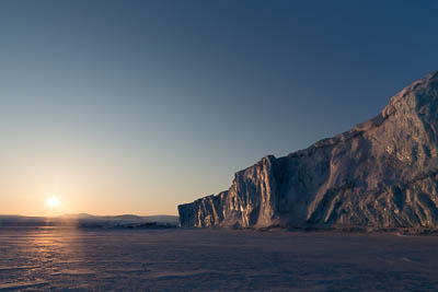 Negribreen, east coast of Spitsbergen.