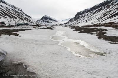 Schneeschmelze, Longyearbyen