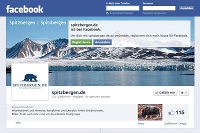 Facebook-Seite von Spitzbergen.de
