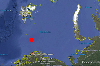 Oil Barents Sea - position of the Wisting Central field
