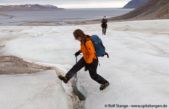 Gletscherwanderung, Spitzbergen