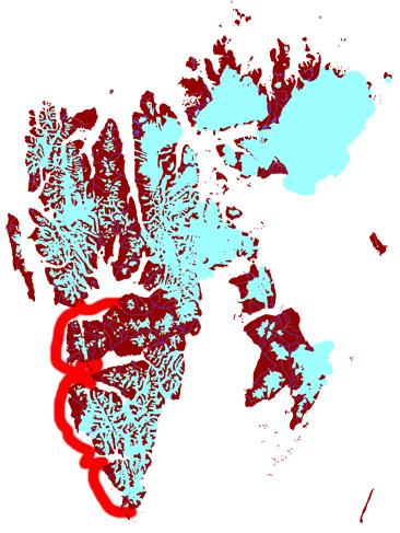 Spitzbergen für Fortgeschrittene mit der Arctica II, 2014: Karte 1