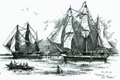 Franklins Schiffe: HMS Erebus and HMS Terror